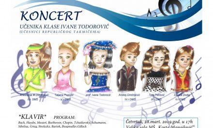 Концерт класе проф. Иване Тодоровић